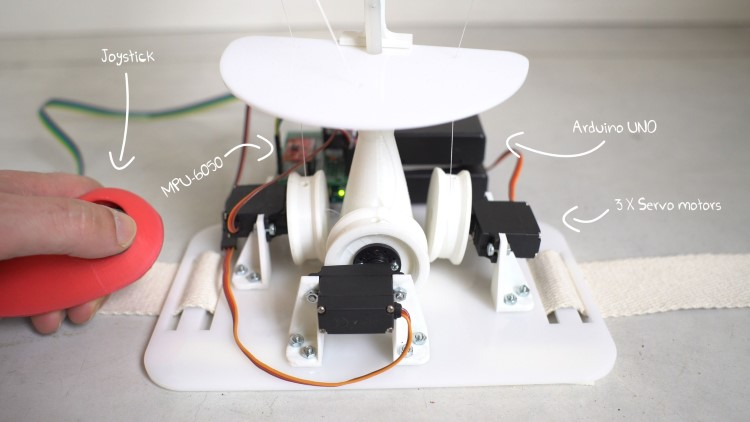 3D Printed Animatronic Tail with Arduino, Accelerometer and