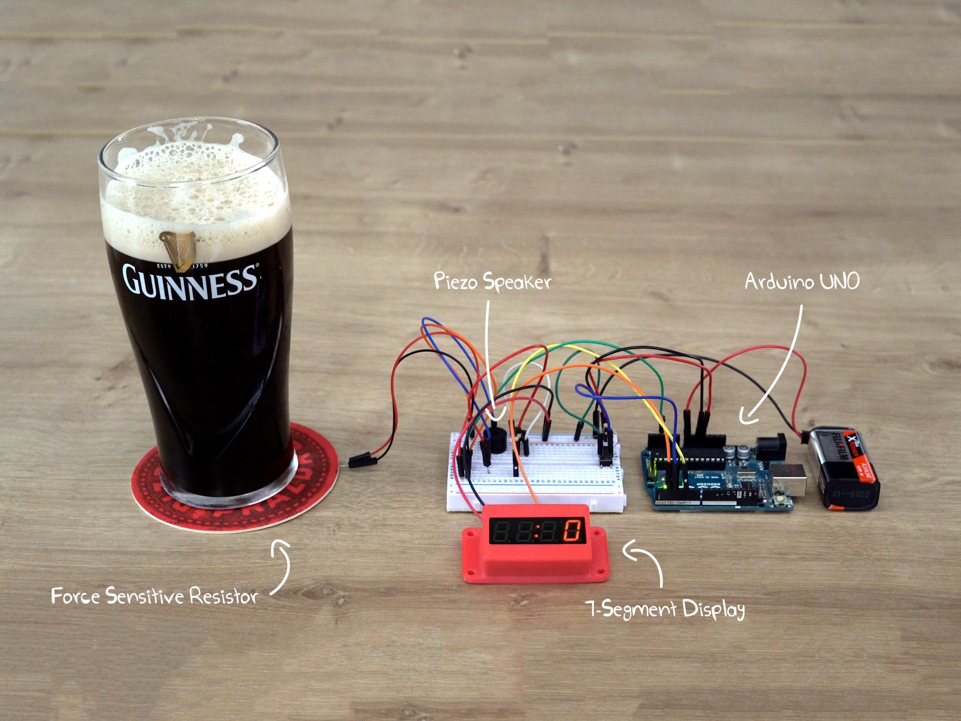 Arduino-Based Chug Meter with Force Sensing Resistor (FSR)